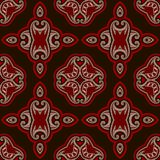 Patterned floor tile in oriental style. Stock Photos