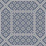 Patterned floor and wall tiles. Ceramic decorative tiles. Vintage flower texture. Patterned floor and wall tiles. Modern decor. Ceramic decorative tiles royalty free illustration