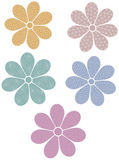 Patterned flowers Royalty Free Stock Photos