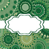 Patterned frame background invitation circular ornament green Stock Photography