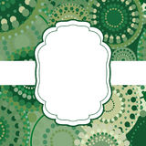 Patterned frame background invitation circular ornament green Royalty Free Stock Photos