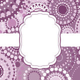 Patterned frame background invitation circular ornament pink Royalty Free Stock Photography