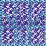Patterned frame of curls Royalty Free Stock Image