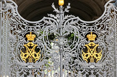 Patterned gate of the Hermitage in St. Petersburg Royalty Free Stock Photos