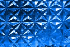 Patterned Glass in Blue Royalty Free Stock Image