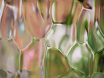 Patterned glass shapes Royalty Free Stock Photography