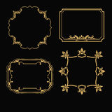 Patterned gold frame Royalty Free Stock Photos