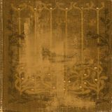 Patterned golden grunge paper background Stock Photos