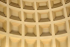 Patterned grand ceiling. Loking up at Patterned curving grand ceiling stock photos
