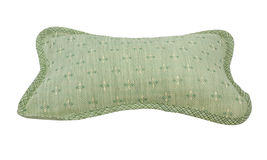 Patterned green pillow Stock Photo