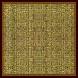 Patterned green rug. Computer generated illustration of artistic floor covering Stock Photos
