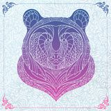 Patterned head of bear Royalty Free Stock Photos