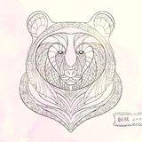 Patterned head of bear Royalty Free Stock Images