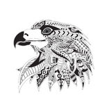 Patterned head of an eagle. Royalty Free Stock Photography