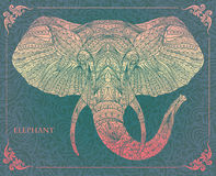 Patterned head of elephant Royalty Free Stock Photo