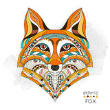 Patterned head of the fox royalty free illustration