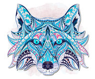 Patterned head of the fox Royalty Free Stock Images