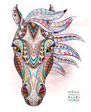 Patterned head of the horse vector illustration