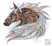 Patterned head of the horse royalty free illustration