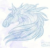 Patterned head of the horse Royalty Free Stock Images