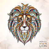 Patterned head of lion stock illustration