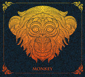 Patterned head of monkey Stock Images