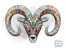Free Patterned Head Of Goat Royalty Free Stock Photos - 53715118