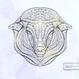Patterned head of sheep Stock Image