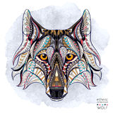 Patterned head of the wolf Royalty Free Stock Images