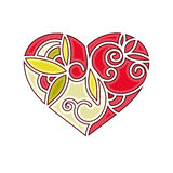 Patterned heart Royalty Free Stock Photos