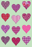 Patterned Hearts Royalty Free Stock Photography