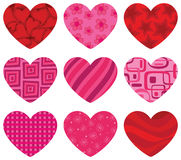 Patterned Hearts Stock Image
