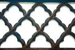 Patterned Iron Lattice Stock Image
