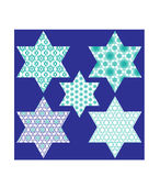 Patterned jewish stars Stock Image