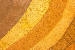 Patterned layer of clay soil for the background. Royalty Free Stock Images