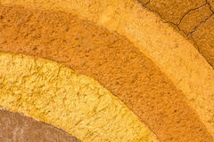 A patterned layer of clay soil for the background. Stock Image