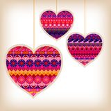 Valentines Day Patterned Love Hearts Royalty Free Stock Photo