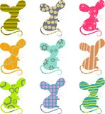 Patterned mice Royalty Free Stock Photos