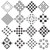 Patterned monochrome Royalty Free Stock Image