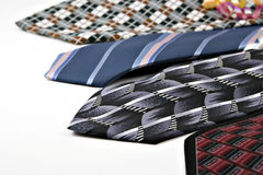 Patterned neckties Stock Images