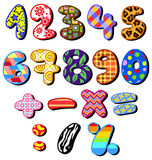 Patterned numbers. Set of colorful patterned numbers Stock Illustration