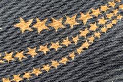 Patterned orange star. Stock Photo