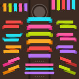 Patterned origami retro ribbons and tags Royalty Free Stock Images