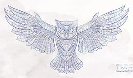 Patterned owl Royalty Free Stock Image