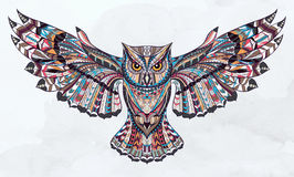 Patterned owl stock illustration
