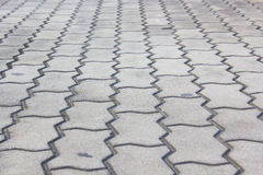 Patterned Paving Tiles, Cement Brick Floor Royalty Free Stock Photography