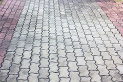Patterned paving tiles, Stock Image