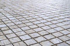 Patterned Paving Tiles, Cement Brick Floor Background Royalty Free Stock Images