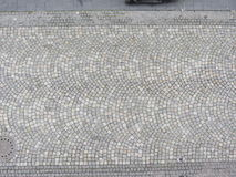 Patterned paving tiles, cement brick floor Royalty Free Stock Image