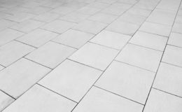 Patterned Paving Tiles, Ceramic Brick Floor Background - Monochrome Royalty Free Stock Images